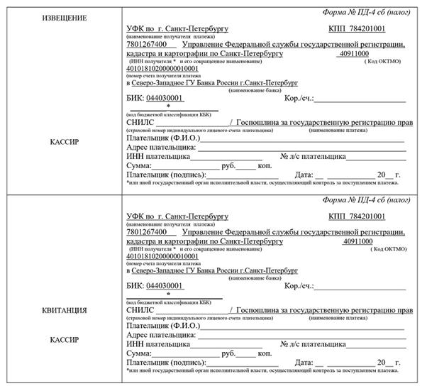 Госпошлина за регистрацию ипотеки для физических лиц