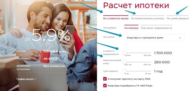 Московский кредитный банк ипотека на вторичное жилье
